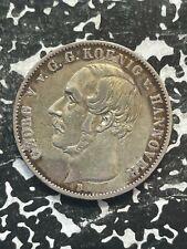 1854-B Germany Hannover 1 Thaler Lot#JM2841 Large Silver Coin!