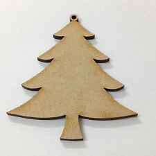 10 x Christmas Tree's MDF Wooden Blanks for Xmas Craft Decorations Gift Tags 6cm