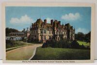 Canada Chorely Park former Residence of Lieutenant Governor, Toronto Postcard A8