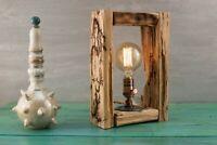 Natural Table Tree Lamp, Natural Wood Lighting, Wooden Desk Lamp, Home Decor
