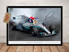 LEWIS HAMILTON F1 GRAND PRIX WORLD CHAMPION  2017 AUTOGRAPHED SIGNED PHOTO PRINT