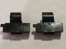 2 Pack Casio HR-100TM HR-100TM Plus HR-150TM Calculator Ink Roller Black/Red