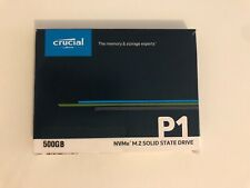Crucial SSD P1 NVMe M.2 500 Go (CT500)