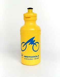 Classic Motorola Cycling Team Yellow and Blue Water Bottle