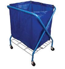 Folding Waste Cart - Cleaning Janitor trolley - 91cmx58cmx102cm - Blue