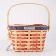 Longaberger Patriotic Basket 2001 Hostess Appreciation w/ liner protector tie-on
