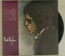 BOB DYLAN SIGNED AUTOGRAPH ALBUM VINYL RECORD BLOOD ON THE TRACKS  J. ROSEN REAL