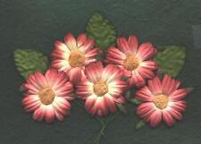 10 x 45mm WINE Paper DAISIES MP3D45:::Basket Craft Card Scrapbook Embellishments