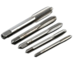 5Pcs Screw Tap Drill Hole Tapping Screw Metric Taps M3-M8 Straight Flute