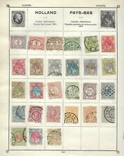NEVERLANDS - Nice Collection of stamps from 1872 onwards on Album Page