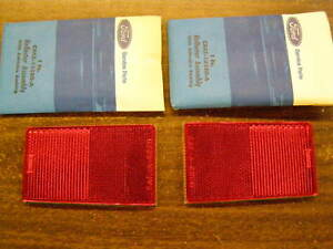 NOS 1968 Ford Galaxie 500 Rear Quarter Extension Reflectors OEM XL LTD