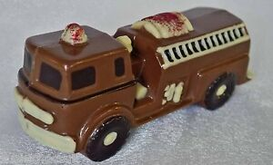 Hand-made Belgian Chocolate Fire Engine