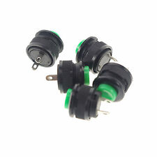5 x Green normal close 2Pin SPST Momentary 14mm Hole Push Button Switch