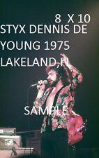Styx 1975 8 X 10 Color Photo Lakeland,FL Dennis De Young Pre-Tommy Shaw Days