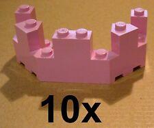 LEGO 10X rose créneaux de Château 4x8x2 1/3 Rose Château tourelle TOP zinne