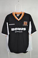 HULL CITY ENGLAND 2005/2006/2007 AWAY FOOTBALL SHIRT JERSEY DIADORA M ADULT
