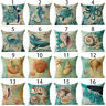 16 Style Sea Animal Polyster Pillow Case Sofa Cushion Cover Throw Decor Sal
