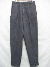 A7226 Btittania Black Vintage 1980's Cool Jeans Women 32x32