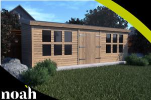 18x8 'Winchester Garden Shed' Heavy Duty Wooden Shed/Workshop/Summerhouse