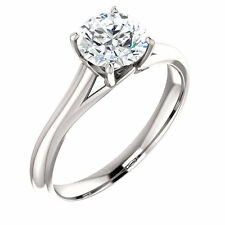 14K Solitaire Engagement Ring 1 CT. Charles & Colvard  Moissanite (Free Sizing)