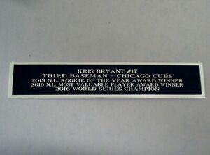 Kris Bryant Chicago Cubs Baseball Jersey Display Case Nameplate 1.5 X 8