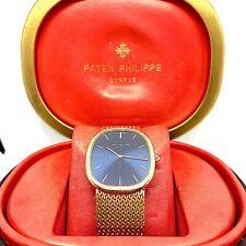 Patek Philippe Watch 18kt Solid Gold Gübelin Blue Dial Original Case