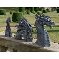 Medieval Gothic 2 Ft Long Dragon Sculpture Yard Garden Statue