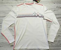 Gerry Mens Lightweight UPF 50+ Stretch Quick-Dry Shirt Size SM WHITE Athletic