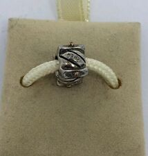 NEW CHAMILIA STERLING SILVER AND 14 K GOLD DOTS BEAD CHARM