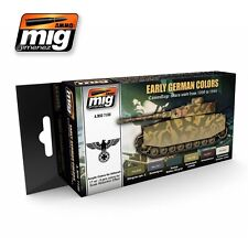 MIG PRODUCTIONS A.MIG7100 - EARLY GERMAN COLORS ACRYLIC PAINT SET