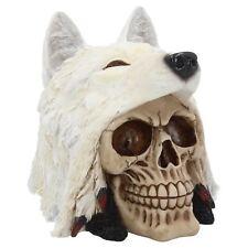 Night Wolf Skull 16cm High Shaman American Indian Spirit Totem Nemesis Now