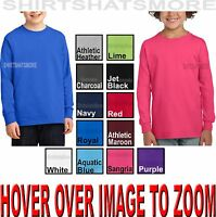 Youth Long Sleeve T-Shirt Heavy Cotton Boys, Girls, Kids Tee XS,S, M,L,XL NEW