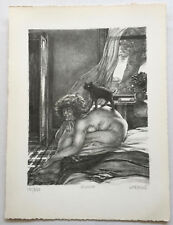 """Original Lithograph By JAMES KEARNS- """"MUSING"""" Published By AAA"""