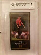 1997 MASTERS COLLECTION TIGER WOODS ROOKIE  BCCG 9