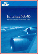 ANNUAL REPORT - KLM ROYAL DUTCH AIRLINES 1985-1986 - DUTCH