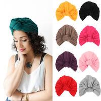 Bonnet à nœud de la mode des femmes Hijab Turban Cap Bonnet Bonnet Echarpe Wrap
