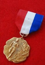 1916-Late Teens BSA Gold Contest Medal Track Red White And Blue Ribbon Box