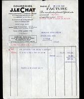 """PARIS (XI°) USINE de COURROIES """"J. LECHAT & LAROCHE"""" en 1933"""