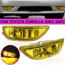 Yellow Lens Front Fog Light Bumper Lamp w/ Blubs H3 For Toyota Corolla 2001-2002