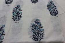 5 Yard Indian hand block multi  Hand-Block Printed Voile Fabric 100% Cotton dsa