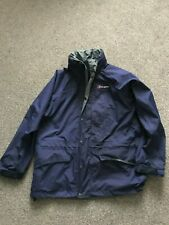 BERGHAUS DARK BLUE MEN'S JACKET SIZE S HIGH QUALITY HOODED