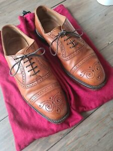 Mens Joseph Cheaney Hogarth Brogues Size 8 Standard Tan Brown Bench Made VGC