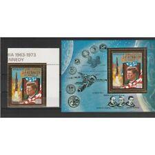 1973 GUINEA EQUATORIALE  KENNEDY  SPAZIO 1 VAL + 1 BF MNH MF55690