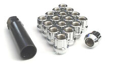 (33) CHROME OPEN END SPLINE DRIVER M14x1.5 LUG NUTS WITH (2) KEYS 14x1.50