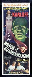 BRIDE OF FRANKENSTEIN ✯ CineMasterpieces RARE HORROR ORIGINAL MOVIE POSTER 1935