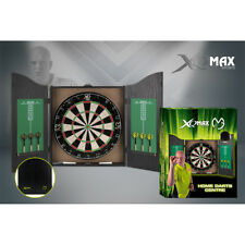 Deluxe Heavy Duty Dartboard Cabinet Set Darts Board Accessories Scoreboard Chalk