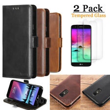 For LG / Samsung Phone Leather Wallet Card Holder Magnetic Flip Stand Case Cover