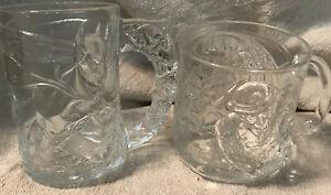 1995 Batman Forever Batman And Riddler Glass Mugs McDonald's