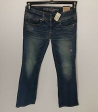 "American Eagle Outfitters Kick Boot Dark Stretch Jeans Size 2 Short (30"" Inseam)"