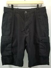 D) Levi's Men's Snap Cargo Short Relaxed Fit Size 32 Black